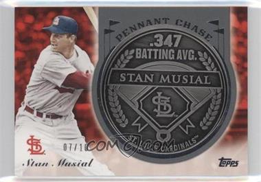 2013 Topps Update Series - Pennant Chase Coins - Steel #PCC-SM - Stan Musial /10