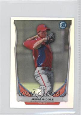 2014 Bowman - Bowman Scout Top 5 Prospects Mini Chrome Refractors #BM-PP2 - Jesse Biddle