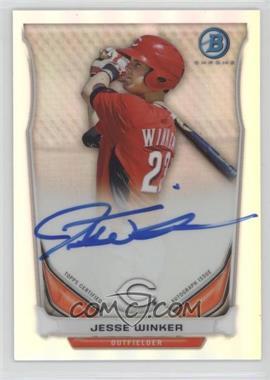 2014 Bowman - Prospect Autographs Chrome - Refractor #BCAP-JW - Jesse Winker /500