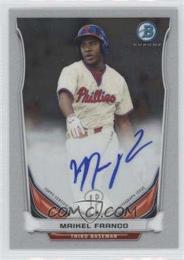 2014 Bowman - Prospect Autographs Chrome #BCAP-MF - Maikel Franco
