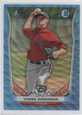 2014 Bowman - Prospects Chrome - Blue Wave Refractor #BCP62 - Chase Anderson