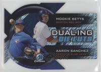 Mookie Betts, Aaron Sanchez #/50