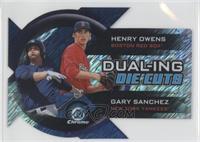 Henry Owens, Gary Sanchez #/50