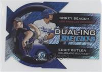 Corey Seager, Eddie Butler #/50