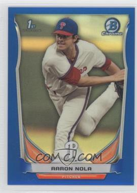 2014 Bowman Draft Picks & Prospects - Chrome - Blue Refractors #CDP4 - Aaron Nola /399