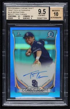 2014 Bowman Draft Picks & Prospects - Chrome Draft Pick Autographs - Blue Refractors #BCA-TT - Trea Turner /150 [BGS 9.5 GEM MINT]