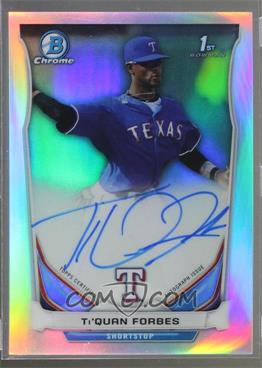 2014 Bowman Draft Picks & Prospects - Chrome Draft Pick Autographs - Refractors #BCA-TF - Ti'Quan Forbes