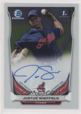 2014 Bowman Draft Picks & Prospects - Chrome Draft Pick Autographs #BCA-JS - Justus Sheffield