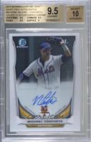 Michael Conforto (Issued in 2015 Bowman Chrome) [BGS 9.5 GEM MIN…