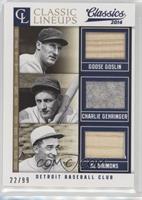 Al Simmons, Charlie Gehringer, Goose Goslin #/99