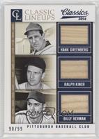 Billy Herman, Hank Greenberg, Ralph Kiner #/99