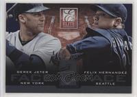 Derek Jeter, Felix Hernandez #/999