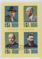 Henry Ford, Joseph Pulitzer, William Randolph Hearst, C.W. Post