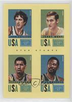 Jerry West, John Havlicek, Bill Russell, George Gervin