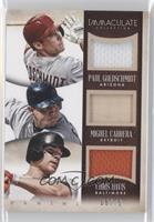 Chris Davis, Miguel Cabrera, Paul Goldschmidt #/79