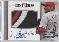 Rookie Material Signatures - Carlos Contreras #/25