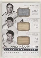 Harry Walker, Johnny Mize, Ralph Kiner #/25
