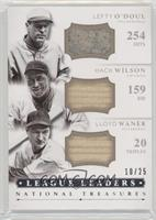 Hack Wilson, Lefty O'Doul, Lloyd Waner #/25