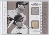 Charlie Gehringer, Hank Greenberg #/25