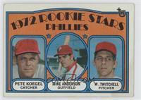 Phillies Rookie Stars (Pete Koegel, Mike Anderson, Wayne Twitchell) [Good…