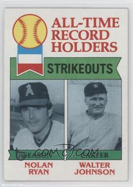2014 Topps - 75th Anniversary Buybacks #1979-417 - Nolan Ryan, Walter Johnson