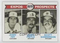Expos Prospects (Jerry Fry, Jerry Pirtle, Scott Sanderson)