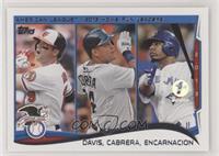 AL Home Run Leaders (Chris Davis, Miguel Cabrera, Edwin Encarnacion) #/10