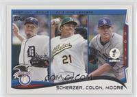 AL Wins Leaders (Max Scherzer, Bartolo Colon, Matt Moore) /10
