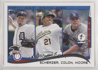 AL Wins Leaders (Max Scherzer, Bartolo Colon, Matt Moore) #/10