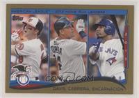 AL Home Run Leaders (Chris Davis, Miguel Cabrera, Edwin Encarnacion) #/2,014