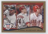 NL Home Run Leaders (Pedro Alvarez, Miguel Gonzalez, Paul Goldschmidt) /2014