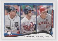 AL Batting Average Leaders (Miguel Cabrera, Joe Mauer, Mike Trout)