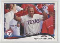 Adrian Beltre (Sparkle on a belt in background and Topps logo on left)