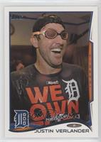 Justin Verlander (Clubhouse Celebration)