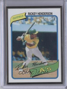 2014 Topps - Framed Rookie Reprints - Black #482 - Rickey Henderson /199