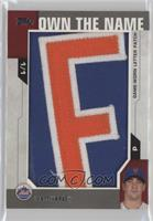 Matt Harvey (Letter E) #1/1
