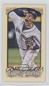 2014 Topps Gypsy Queen - [Base] - Mini #123.2 - Felix Hernandez (White Jersey)