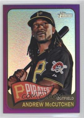 2014 Topps Heritage - [Base] - Chrome Purple Refractor #THC-160 - Andrew McCutchen