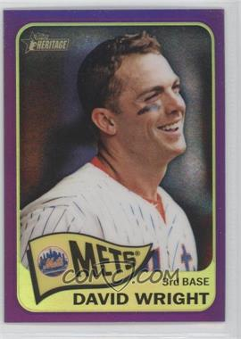 2014 Topps Heritage - [Base] - Chrome Purple Refractor #THC-284 - David Wright
