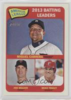 American League 2013 Batting Leaders (Miguel Cabrera, Joe Mauer, Mike Trout)