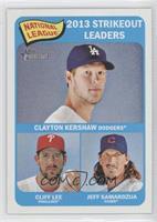 National League 2013 Strikeout Leaders (Clayton Kershaw, Cliff Lee, Jeff Samard…