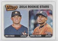 2014 Rookie Stars (Max Stassi, Jorge DeLeon)