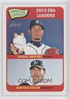 American League 2013 ERA Leaders (Anibal Sanchez, Bartolo Colon)