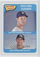 National League 2013 ERA Leaders (Clayton Kershaw, Jose Fernandez)