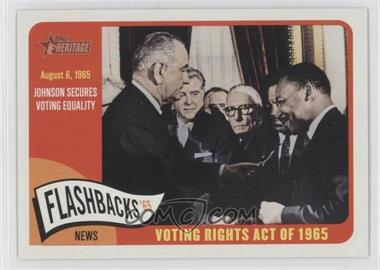 2014 Topps Heritage - News Flashbacks #NF-VRA - Voting Rights Act of 1965