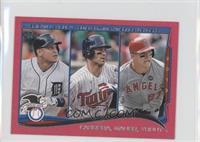 AL Batting Average Leaders (Miguel Cabrera, Joe Mauer, Mike Trout) #9/25