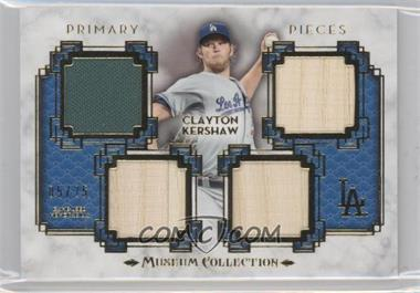 2014 Topps Museum Collection - Single-Player Primary Pieces Quad Relics - Gold #PPQR-CKE - Clayton Kershaw /25