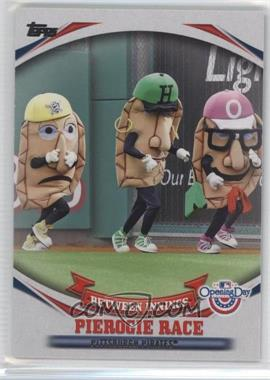 2014 Topps Opening Day - Between Innings #BI-2 - Pierogie Race (Sauerkraut Saul, Oliver Onion, Jalapeno Hannah, Chester Cheese)