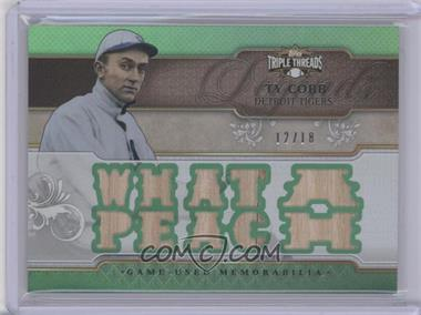 2014 Topps Triple Threads - Legends Relics - Emerald #TTRL-TC - Ty Cobb /18
