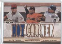 David Freese, Pablo Sandoval, Chase Headley #/27